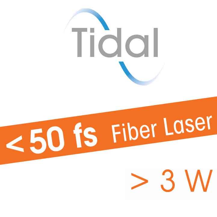 Ultrafast fiber laser for biophotonics, multiphoton microscopy, neuroscience, optogenetics - Tidal - sub 40 fs - 3 W